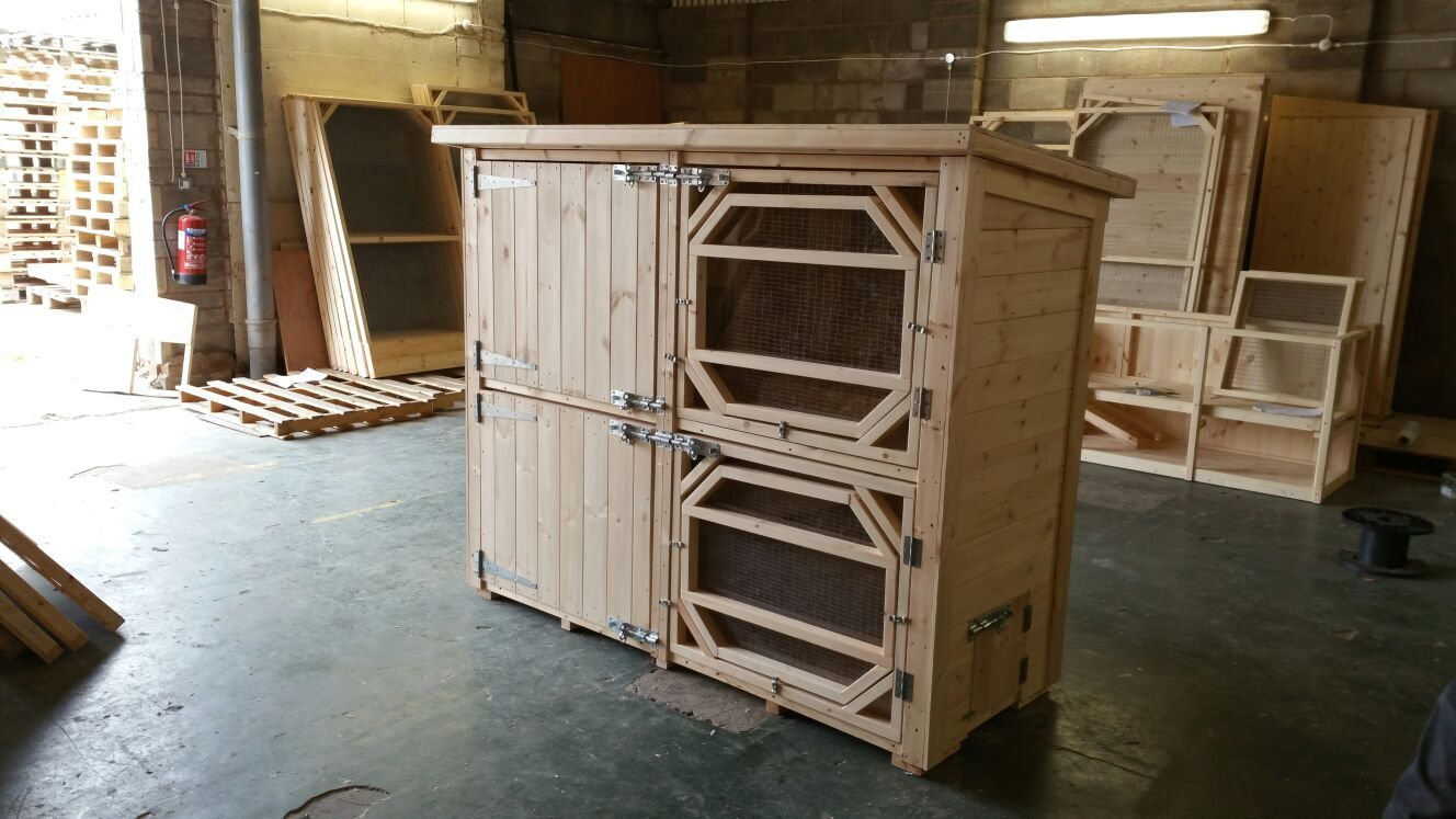 Large Double Rabbit Hutch, Sizes Start from 6x2 5x6ft The