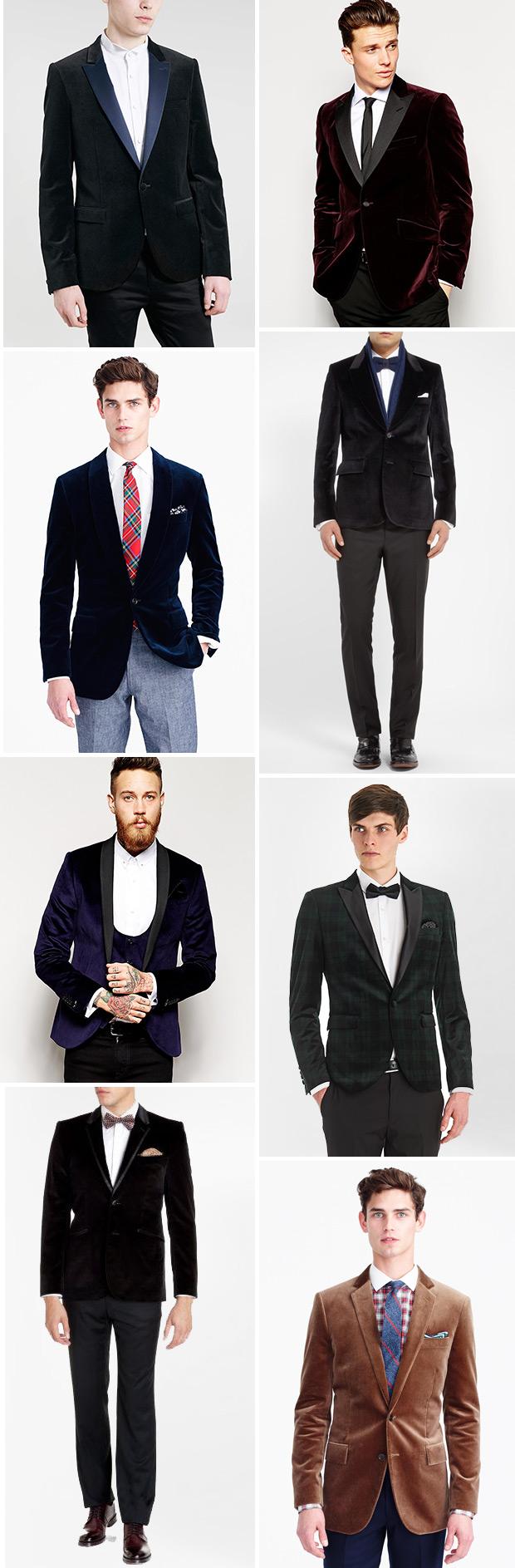 Where to buy velvet blazers for the groom | www.onefabday.com