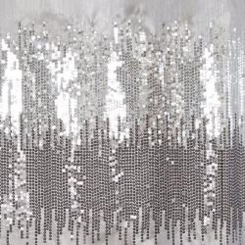 Black Gray Shower Curtain Shimmery Silverbathroom Home Decor Fabric Bath  Glitter