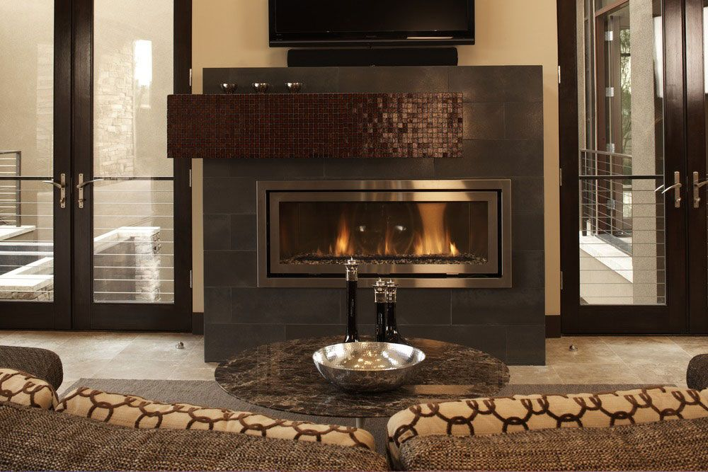 Metal Fusion 16 X 24 Zinc Oxide Daltile Fireplace Facing
