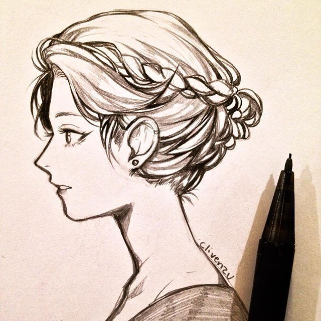 Drawing Hairstyles How To Draw Hair Drawings Pencil Drawing Inspiration