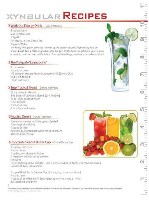 Xyngular Low Carb Meal Plan