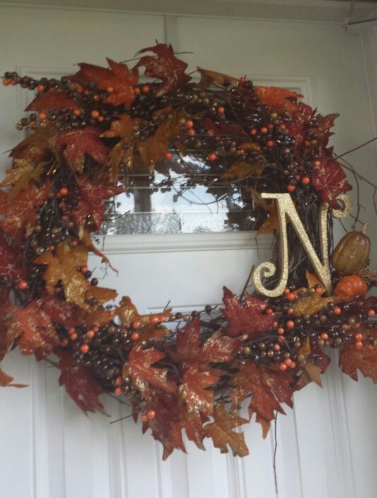 My front door wreath for fall (Supplies from hobby lobby) Boo - hobby lobby halloween decorations