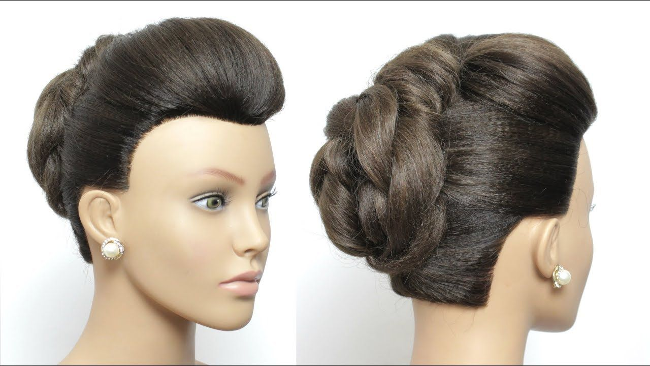 Easy party hairstyles with front puff beautiful updo hairstyle