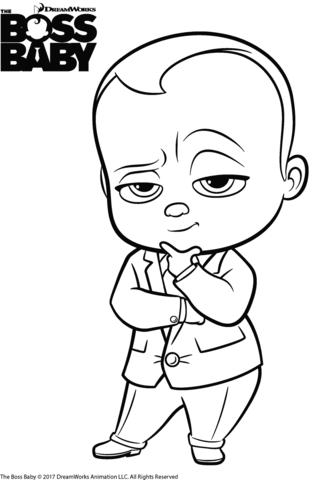 The Boss Baby Templeton Dibujo Para Colorear Bebe Jefe