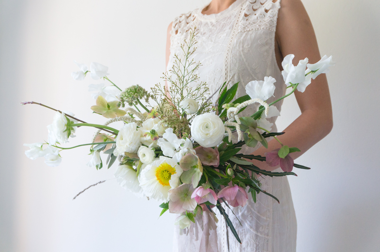 Bridal Bouquet Bough Twig Floral Studio Wedding Flowers