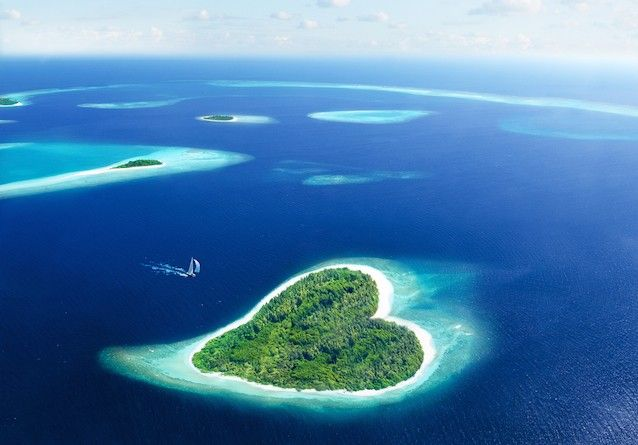 Heart island maldives
