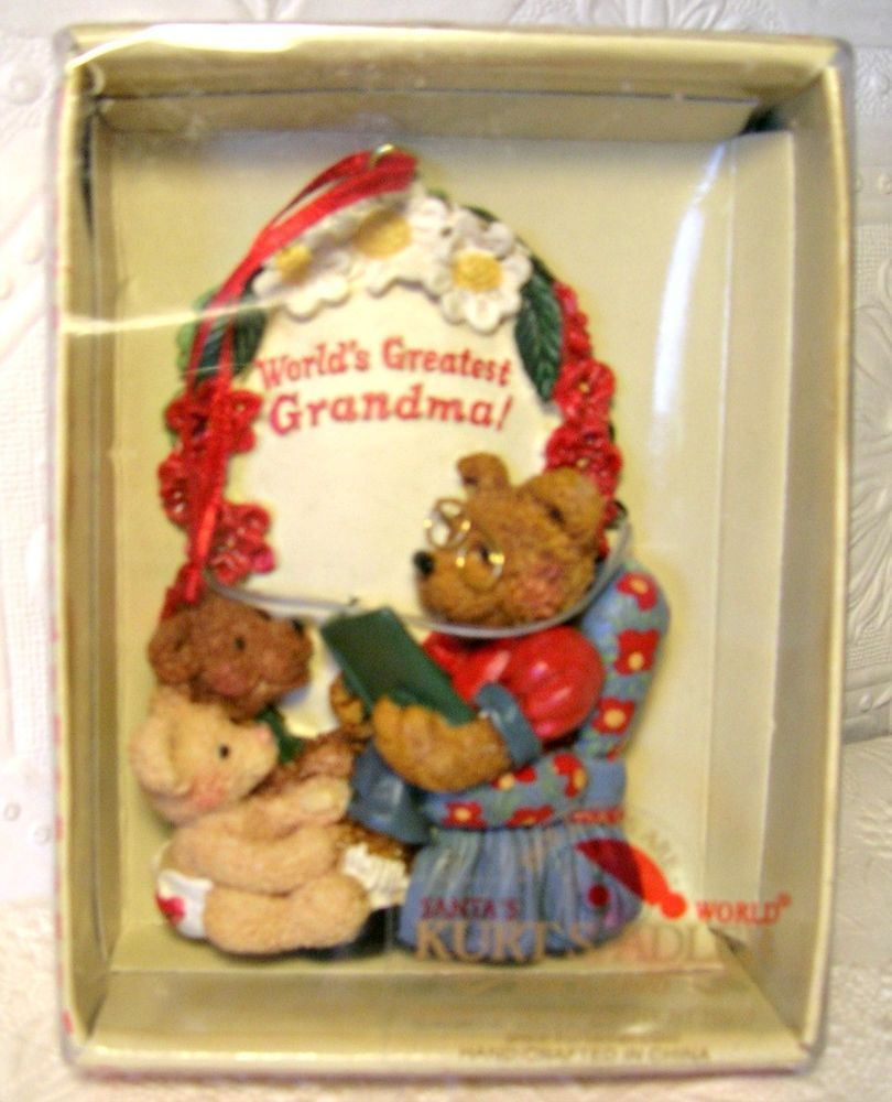 Columbia Christmas Tree: Worlds Greatest Grandma Christmas Ornament By Kurt Adler
