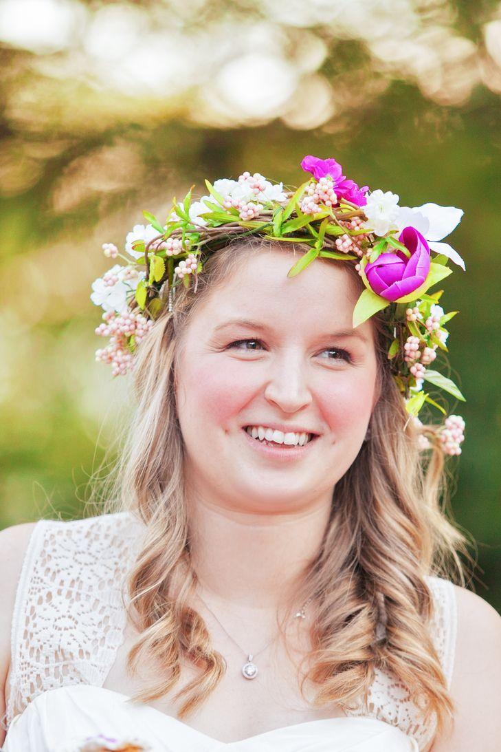 Diy Pink Flower Crown Wedding Hairstyles Pinterest Flower