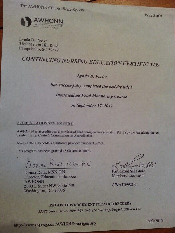 AWHONN certification | Nursing | Pinterest