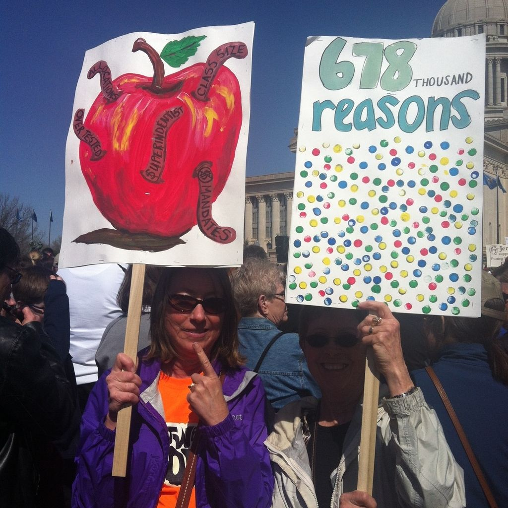 17 sassiest protest signs at the oklahoma rally for