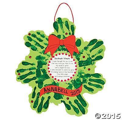Christmas Wreath Handprint Poem Craft Kit  Crafts for kids to
