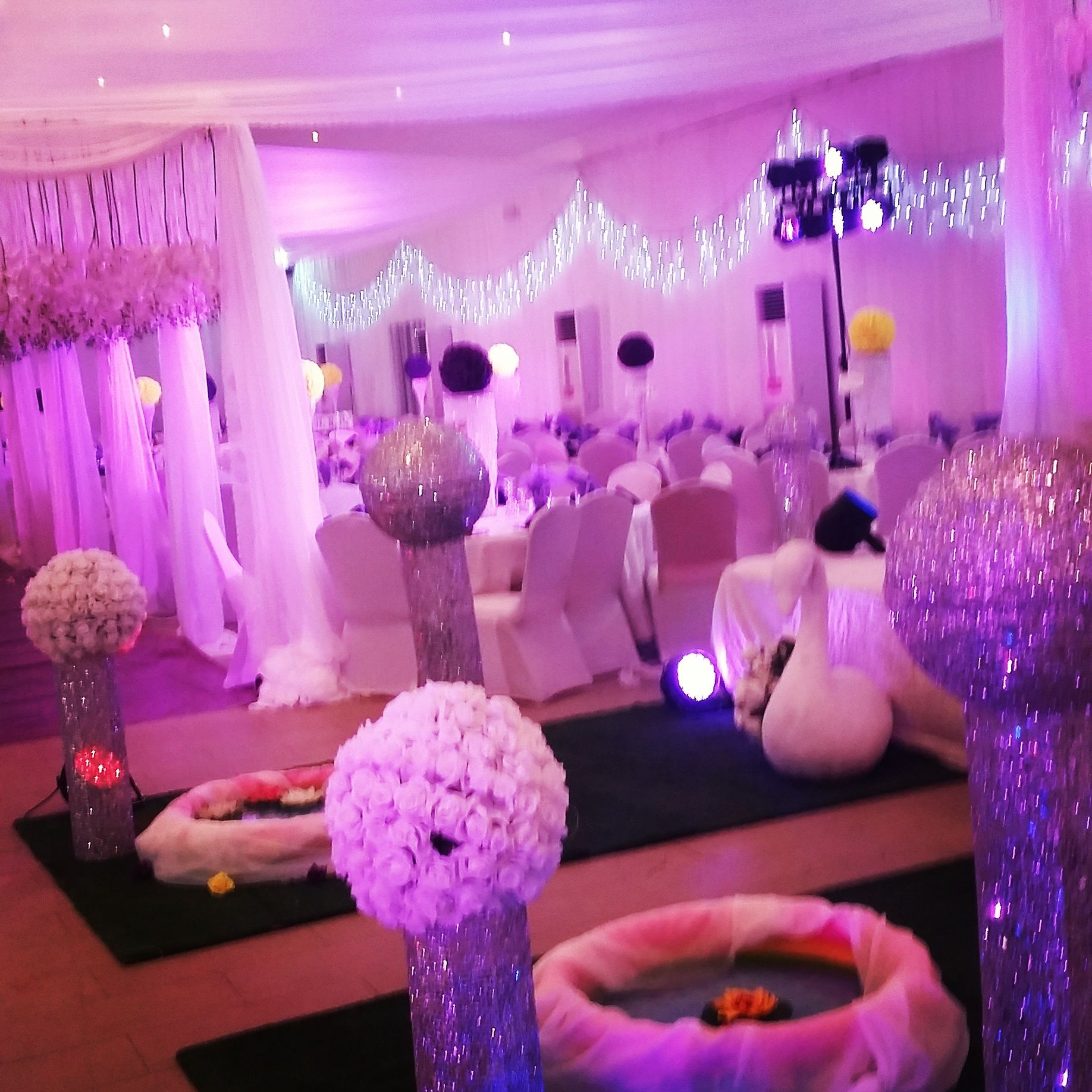 wedding stage decoration pics%0A Front view of Bridal Stage   Wedding Party  D  cor by Celeb Planners