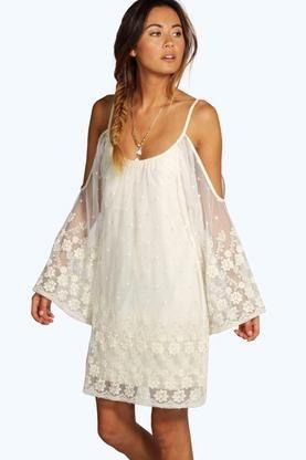 72260fa0e6b8a2 Cameron Lace Open Shoulder Dress