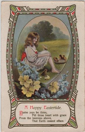 Vintage Easter greetings postcard, Philco, c.1910 #vintage #postcard #easter