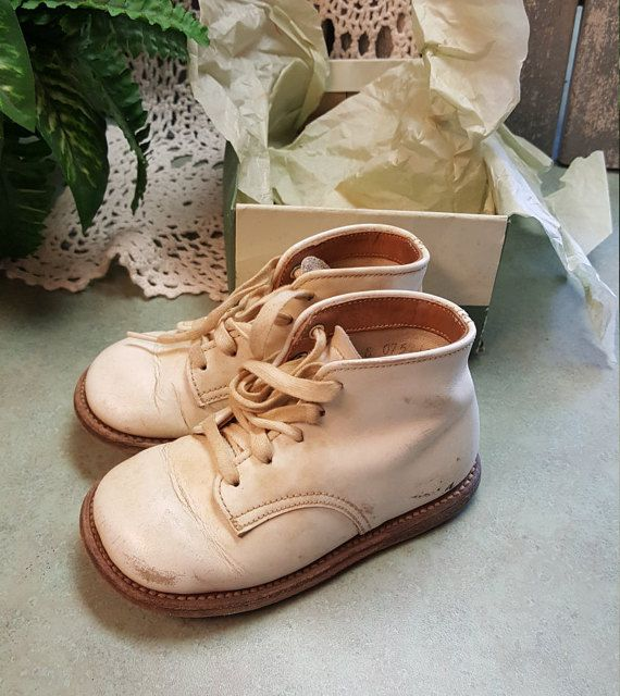 Vintage Stride-Rite BABY Shoes Leather