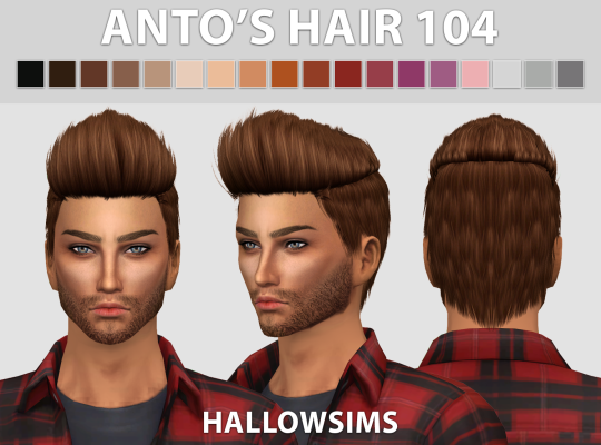 Male Hair Pack by HallowSims | Sims 4, Sims