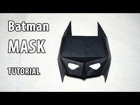 Easy Origami Batman Mask Tutorial