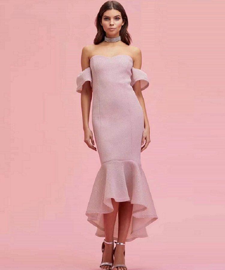 new fashion sample yellow bodycon bandage dress with