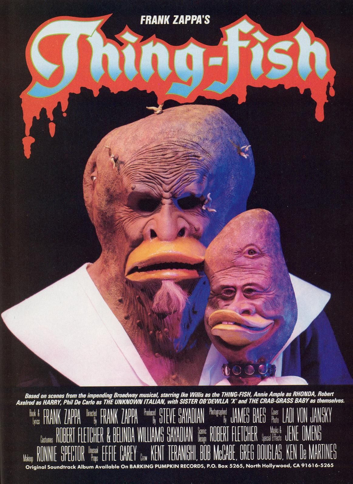 Frank Zappa S Thing Fish 1984 04 Xx Hustler Concert
