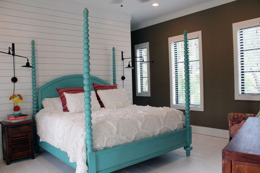 Shocking Sky Blue Bedroom Tropical Design Ideas With Aqua Bed