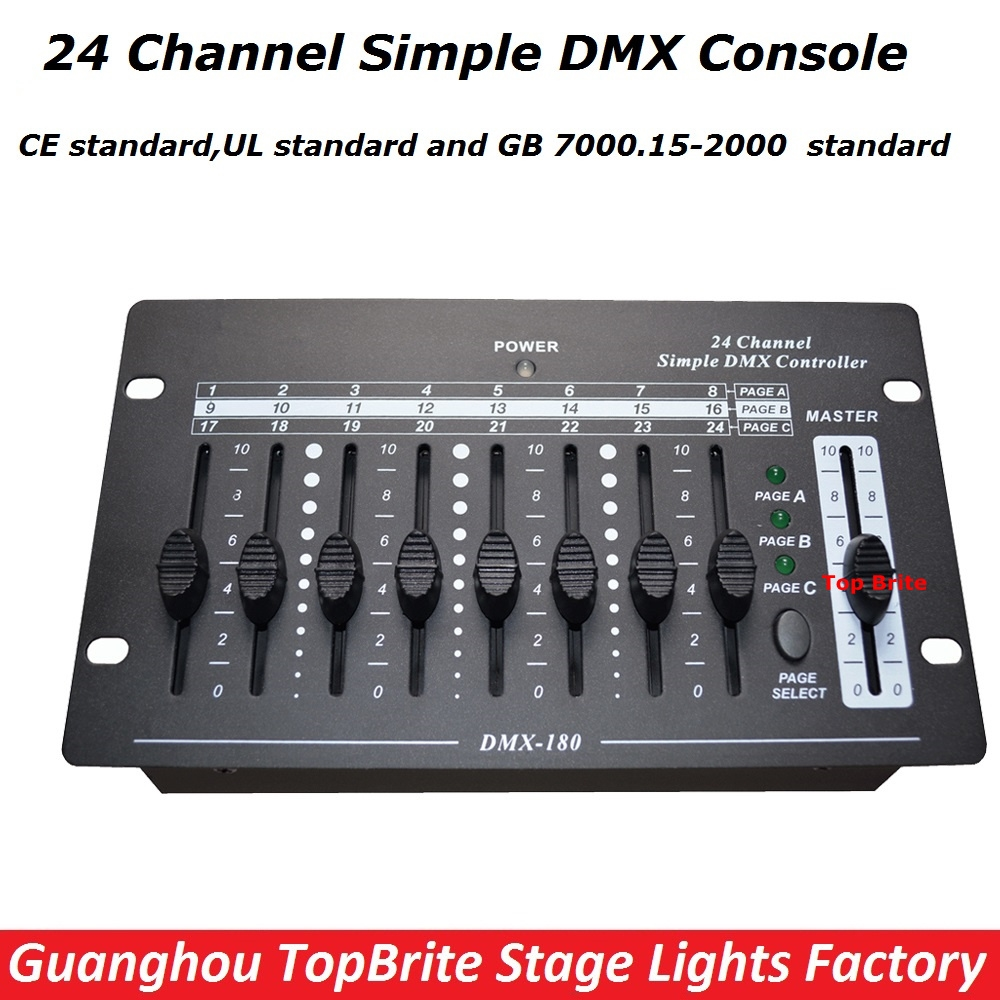 75.00$  Watch now - http://ali9xb.worldwells.pw/go.php?t=32787195975 - Big Discount High Quality 1Pcs/Lot 24 Channel Simple DMX Controller DMX 512 Console For Stage DJ Disco Lighting Fast Shipping 75.00$