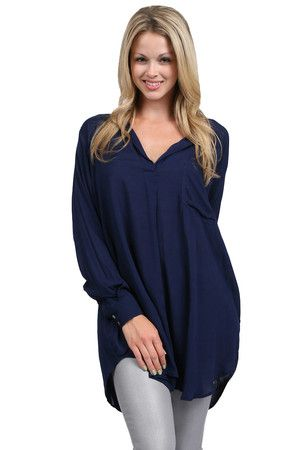 The Long Sleeve Pocket Tunic by Indah from MFredric.com $104.00