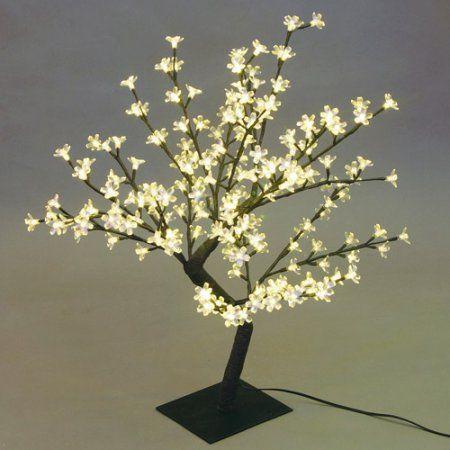 17 71 Desk Top Cherry Blossom Tree Black Cherry Blossom Tree White Led Lights Blossom Trees