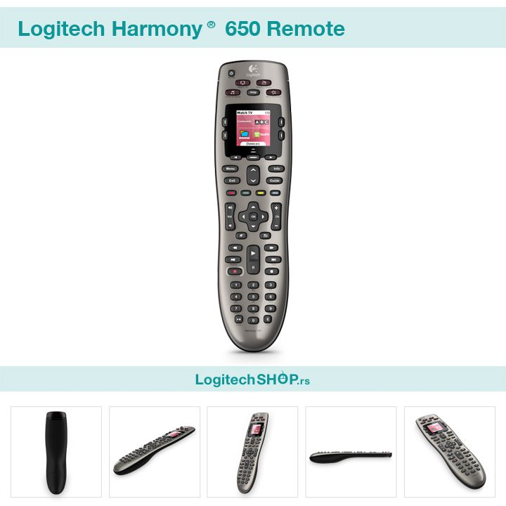 Logitech harmony 650 remote with images remote