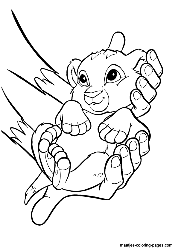 Lion King coloring pages The Lion King Pinterest Lions