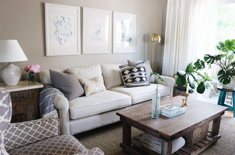 Townhouse Update New Sofa Living Room Decorating Small Living