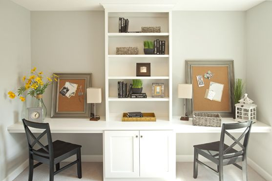 Dual Study Desks At Upper Level Bonus Room Shared Home Offices