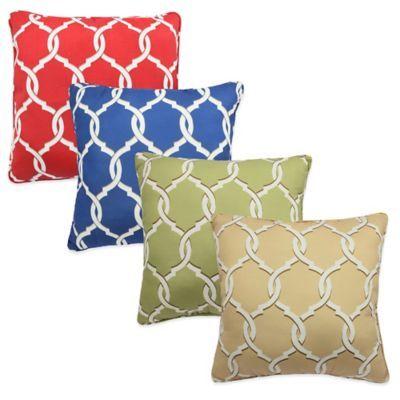 Parasol Totten Key Trellis Indoor/Outdoor Square Throw Pillow - BedBathandBeyond.com
