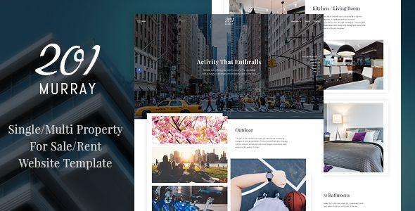 Murray SingleMulti Property For SaleRent Website Template - Real estate photography website template
