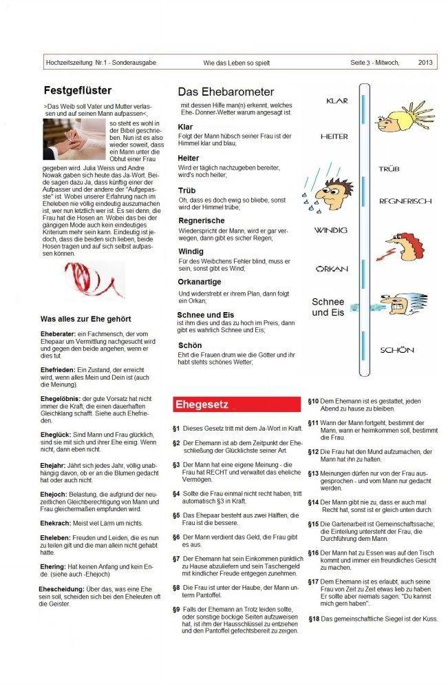 Ehebarometer Usw Hochzeitszeitung Hochzeitszeitung Gestalten Hochzeitszeitung Ideen