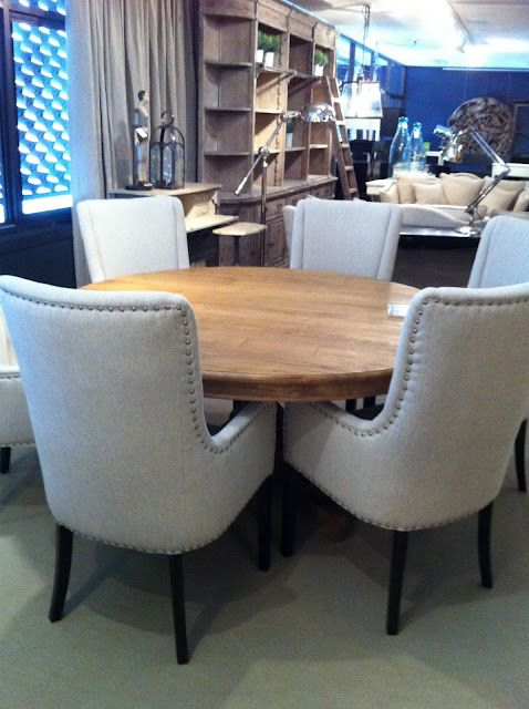 Want these chairs  a black round pedestal table for