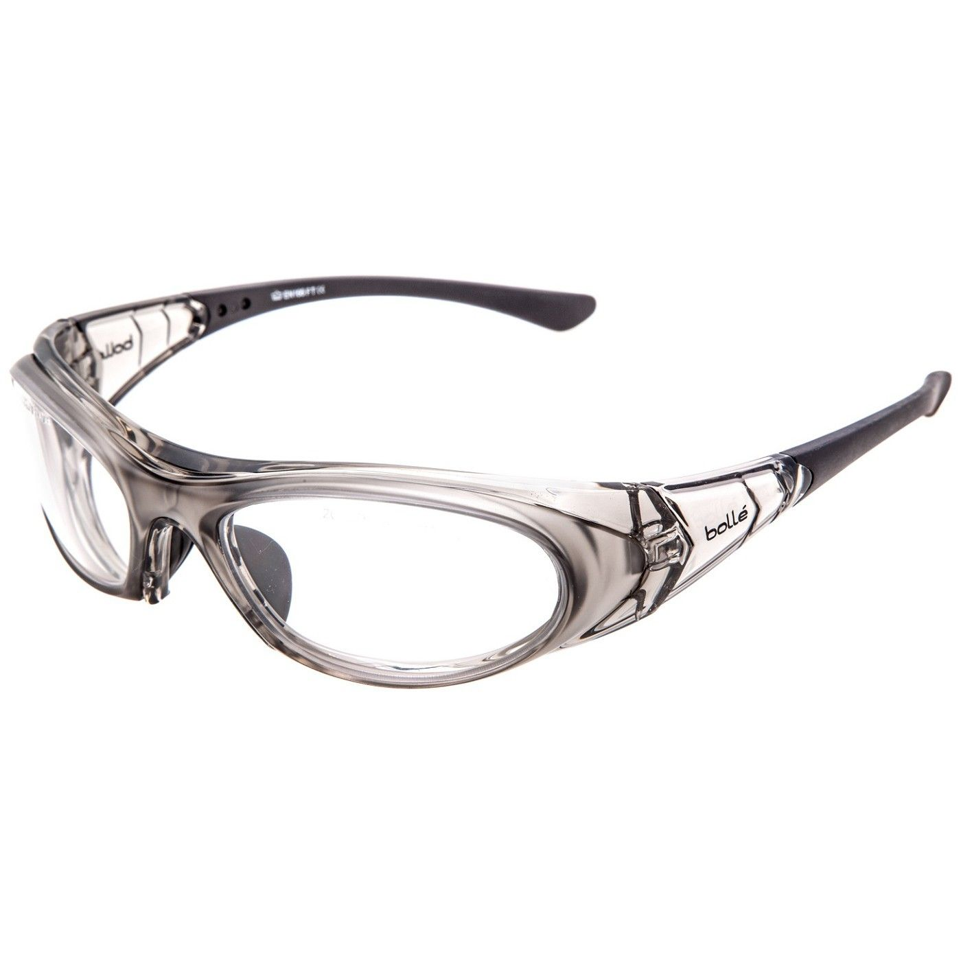 Bolle 40035 boss safety glasses clear frame clear anti