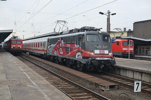 115 5092 in Magdeburg Hbf Eisenbahn, Bundesbahn und Zug