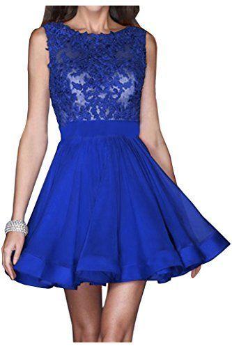 Victory Bridal Royal Blau Spitze Kurz Cocktailkleider Heimkehr Ballkleider  Promkleider Abendkleider Mini, http:/