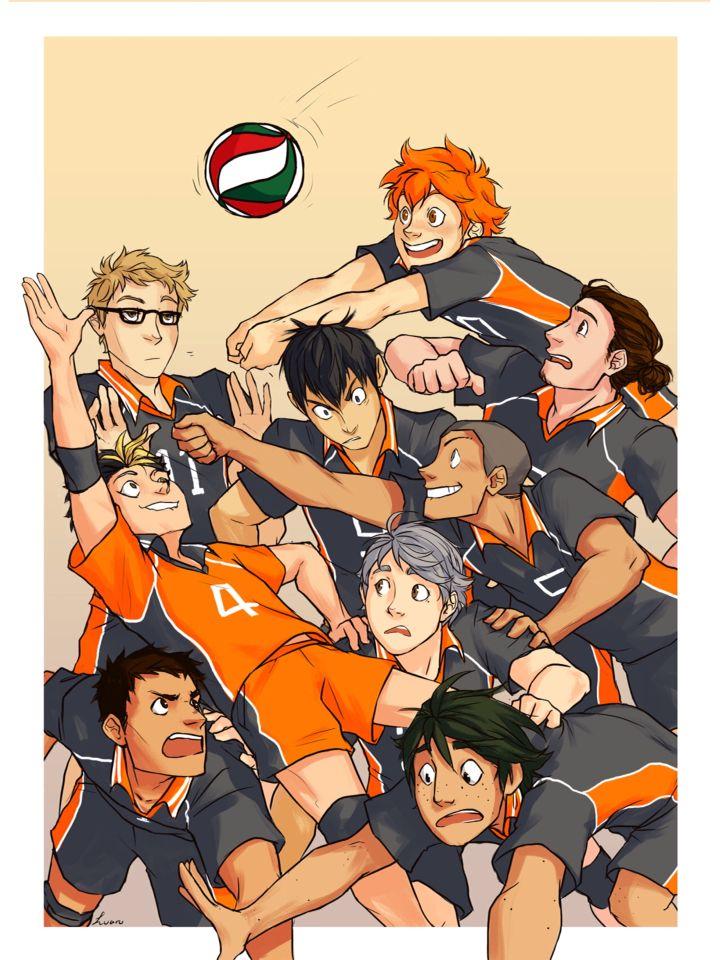 Karasuno Team Haikyuu Haikyuu Anime Haikyuu Haikyuu Fanart