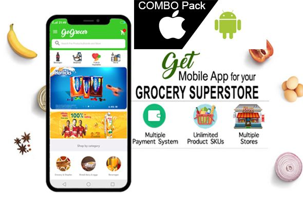 Grocery Store Android and iOS Apps with Backend Nulled | Nulled