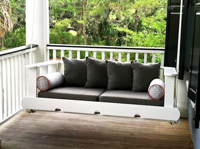leaf design studio, #charleston, sc #porch swing