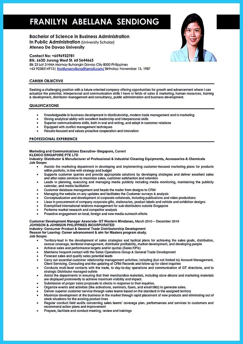 resume objective examples for business administration