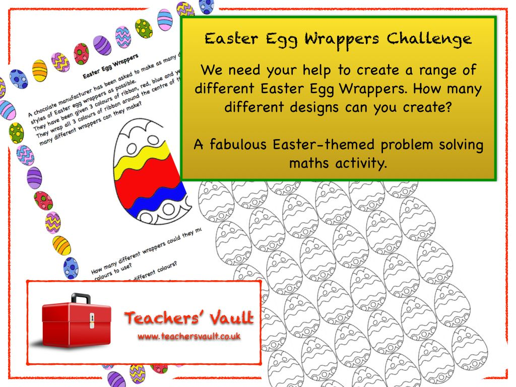 Easter Egg Wrappers Challenge