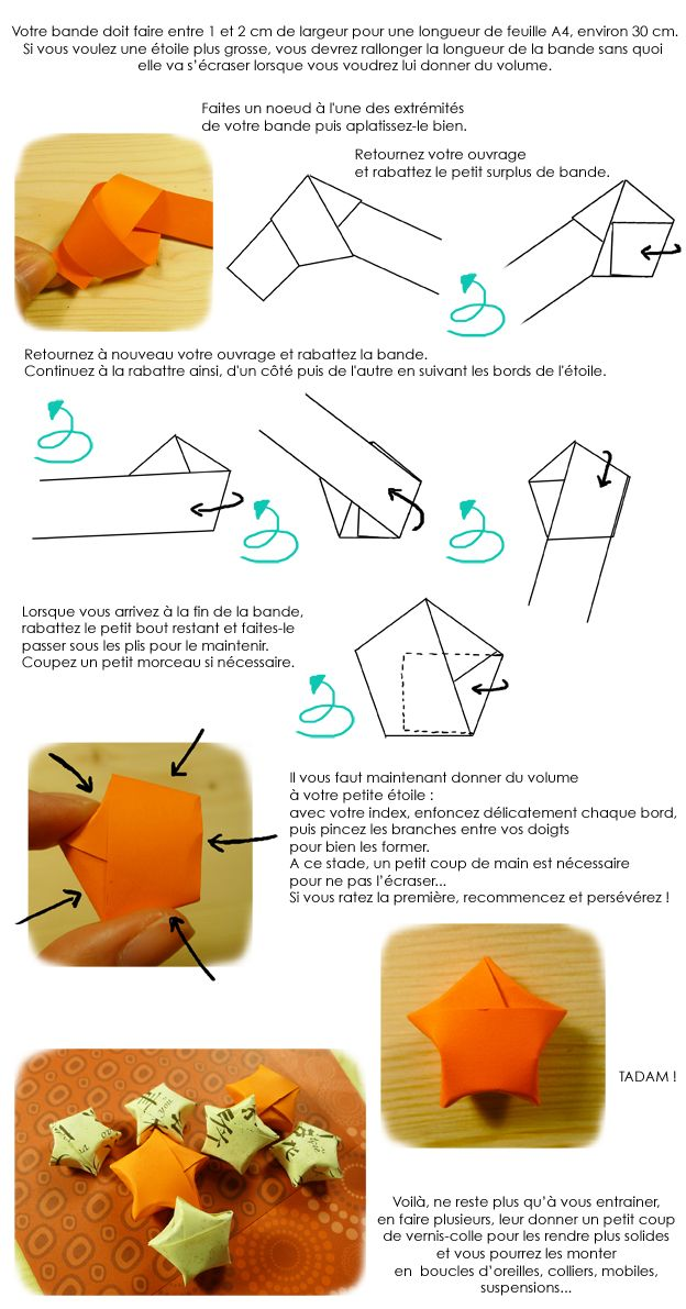 Comment faire des boucle d'oreille en origami
