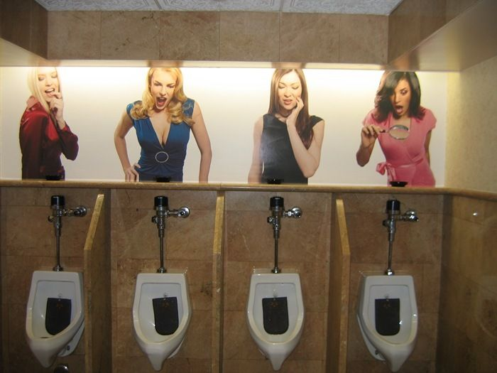 funny urinals of vegas game room restroom design funny design rh pinterest com