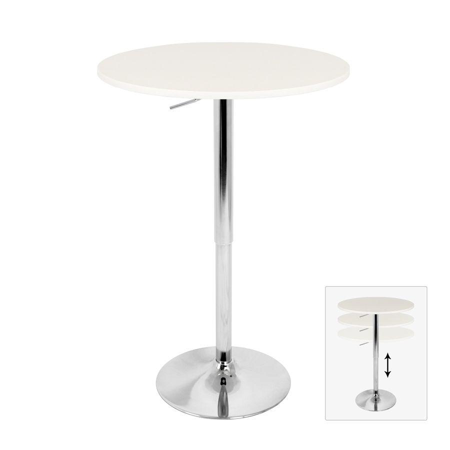 Lumisource - Adjustable Chrome Base Bar Table