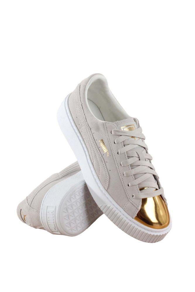 362222-01 WOMEN SUEDE PLATFORM PUMA GOLD STAR WHITE  PUMA  FashionSneakers 21284901bd5
