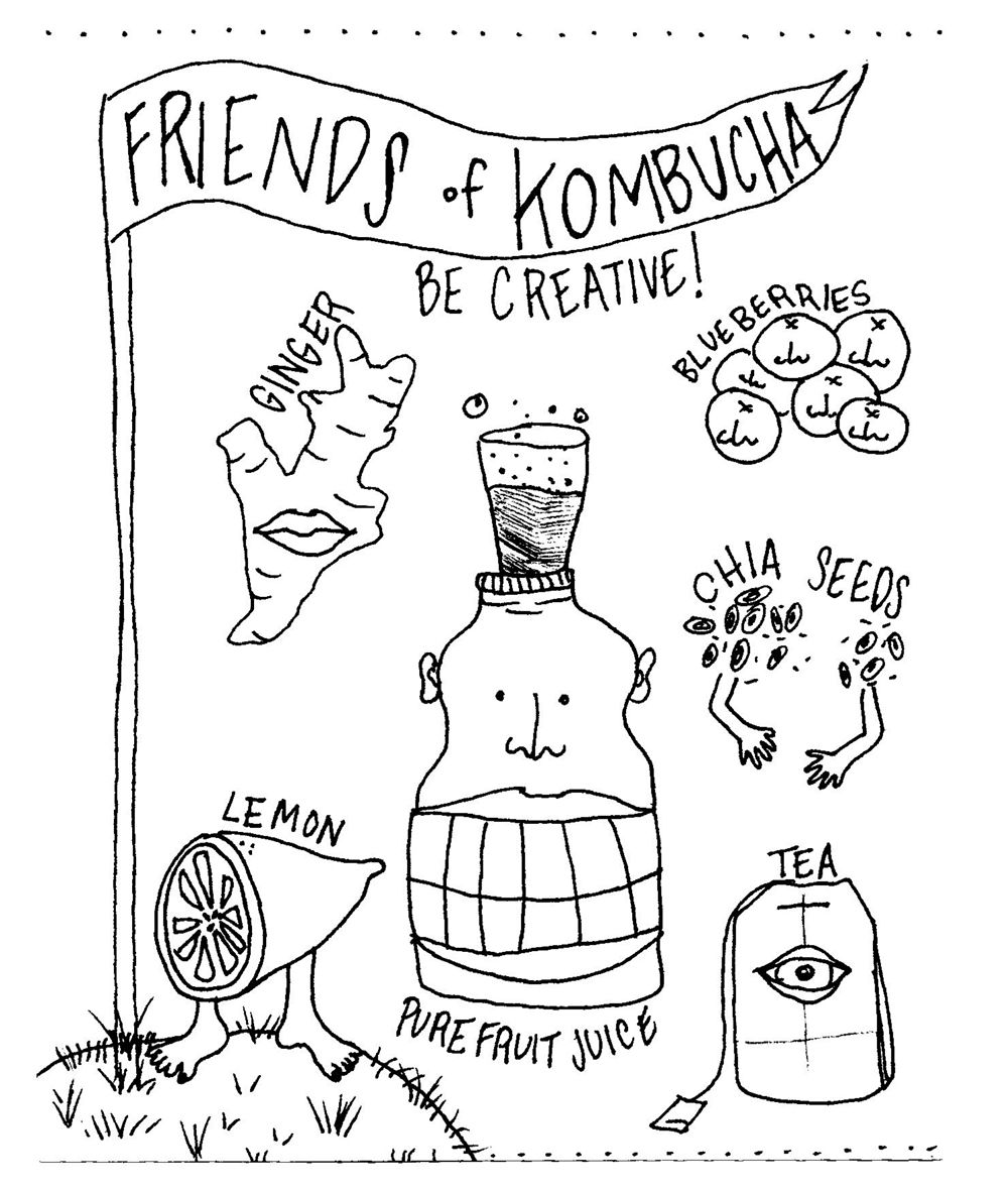 How to Make Kombucha: An Illustrated Mother/Daughter Tale