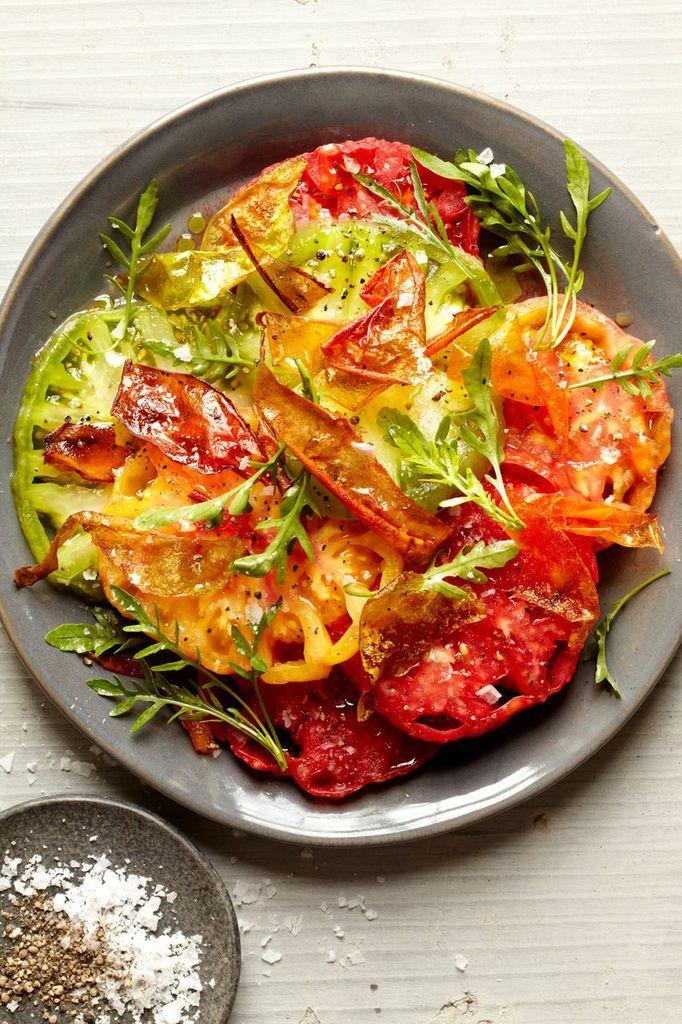 Tomatoes with arugula